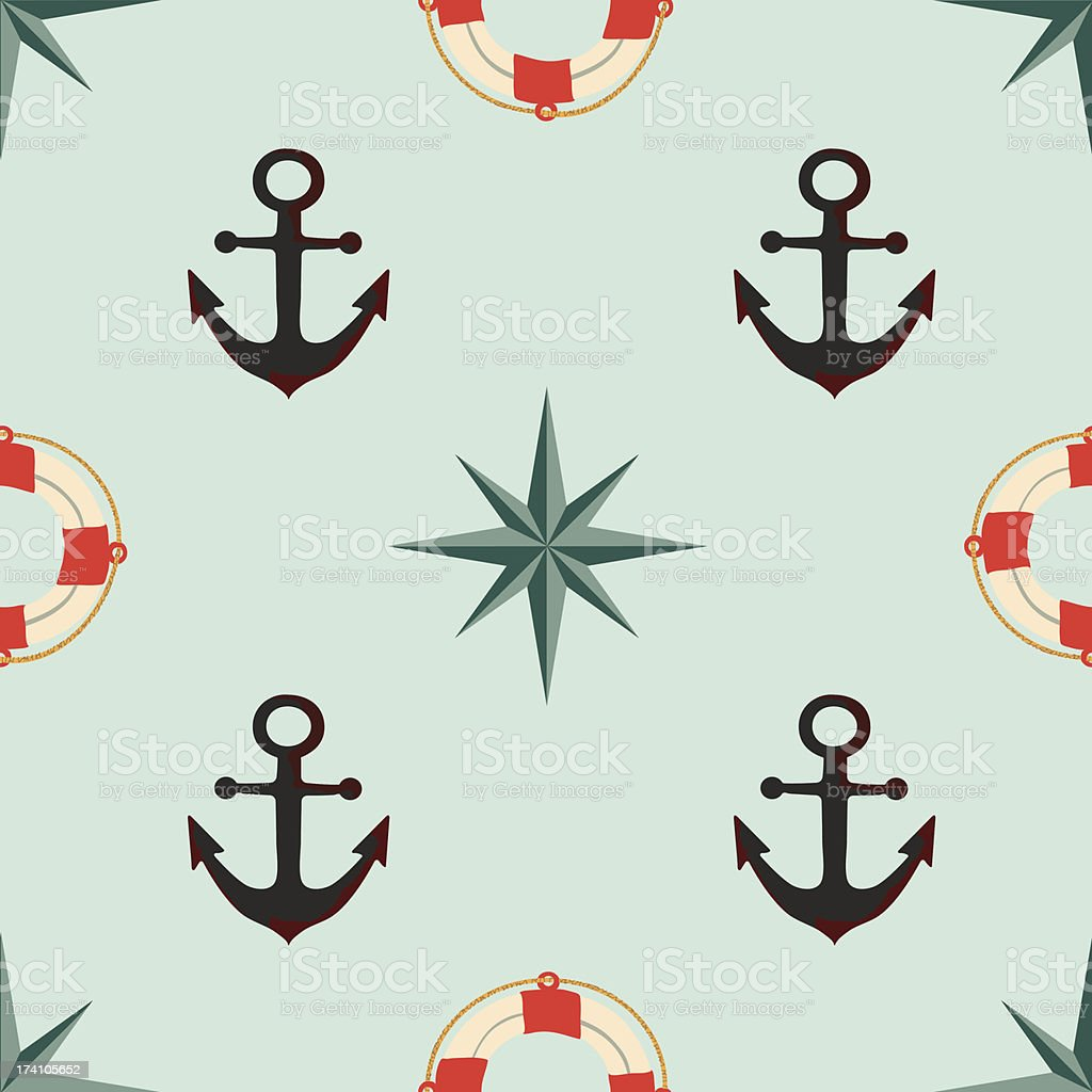 Seamless texture. The maritime theme. royalty-free stock vector art
