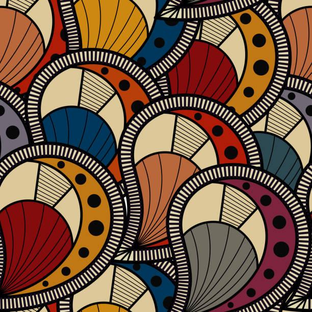 Seamless texture vector art illustration