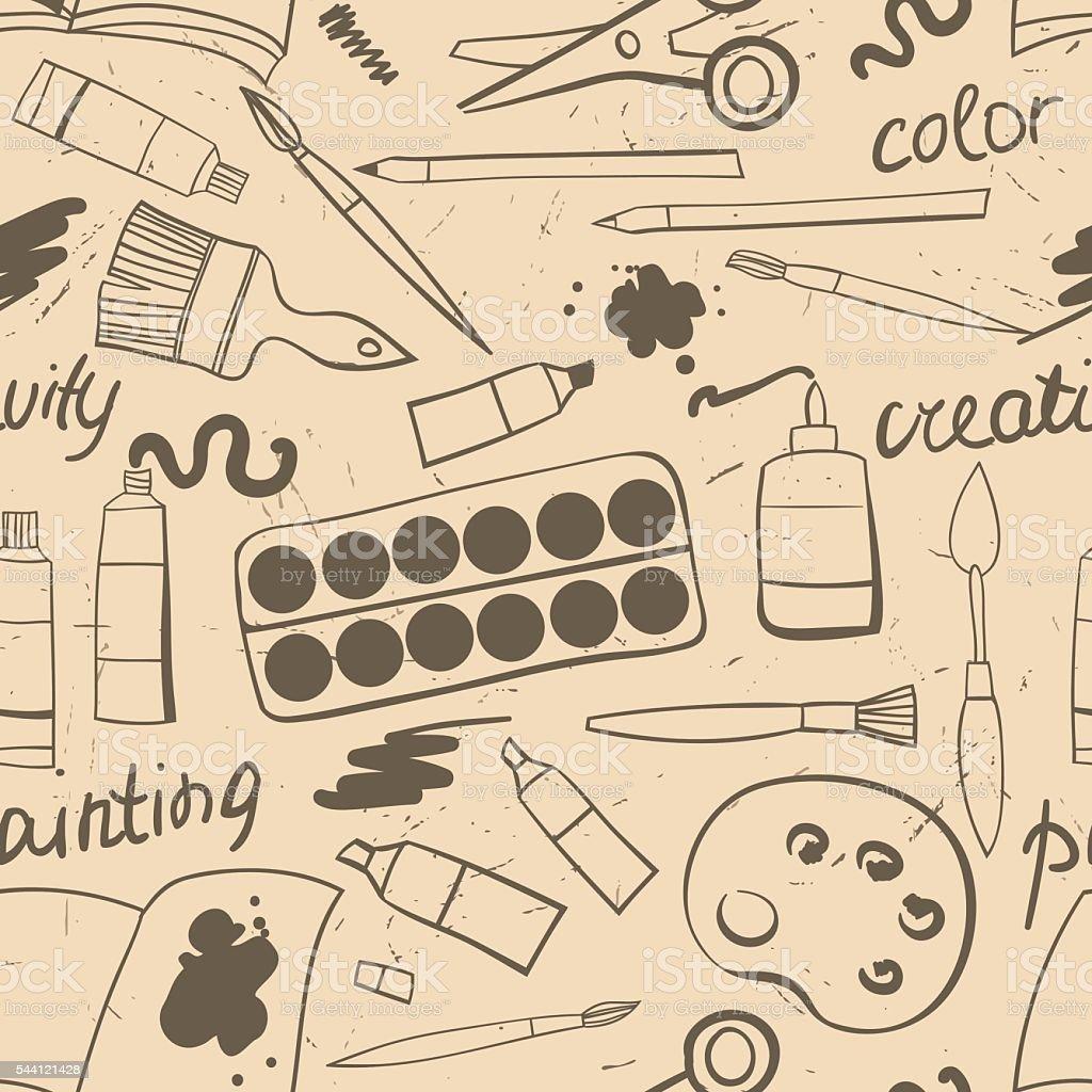 シームレスな質感とアートの素材です落書きアート資料の背景ベクトル