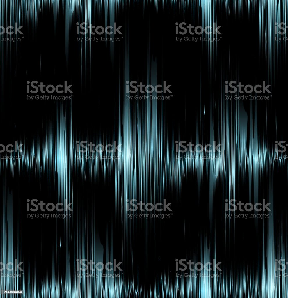 Seamless texture with blue vibration sound. vector art illustration