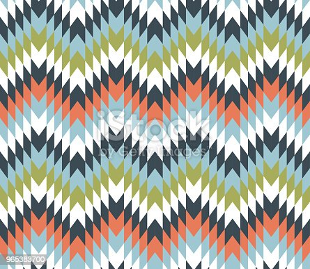 Seamless Texture With Zigzags Stock Vector Art & More Images of Abstract 965383700
