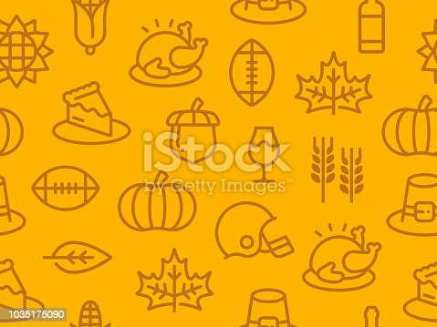 Seamless thanksgiving autumn fall background.
