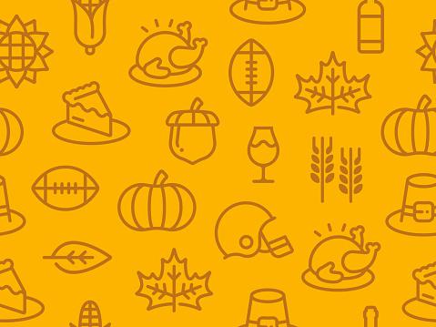 Seamless Thanksgiving Autumn Background
