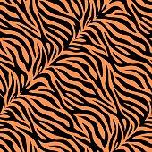 istock Seamless tiger skin pattern 584846618