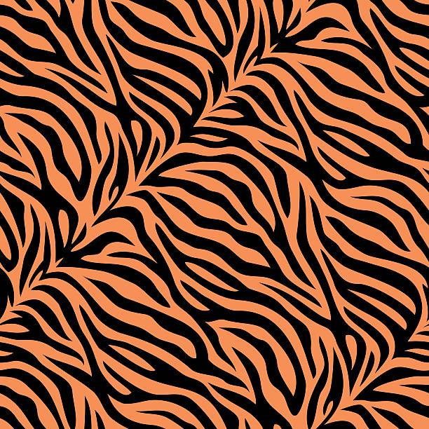 Seamless tiger skin pattern Seamless animal skin print animal markings stock illustrations