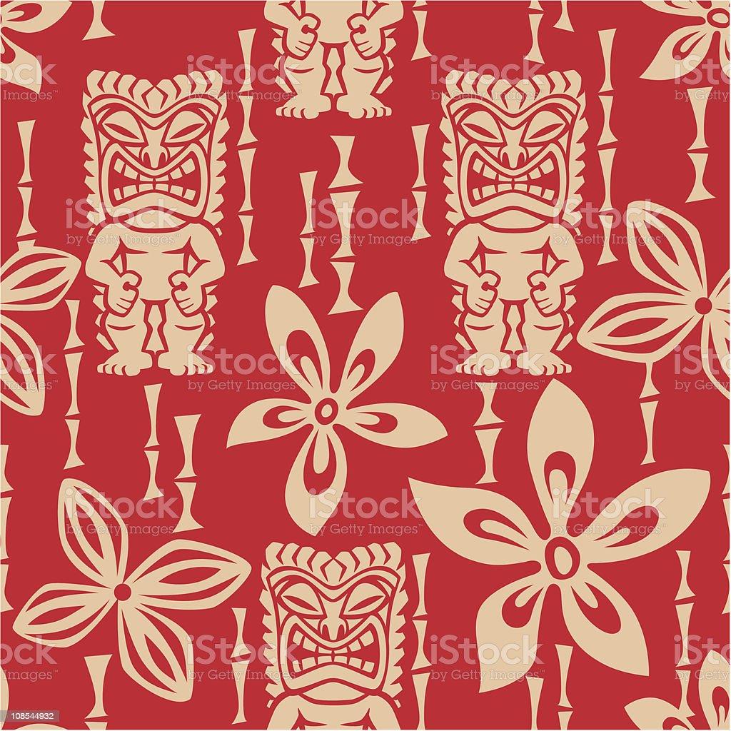 Seamless Tiki Tapa Pattern royalty-free stock vector art