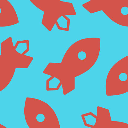 Seamless tile for pattern with rocket shapes.