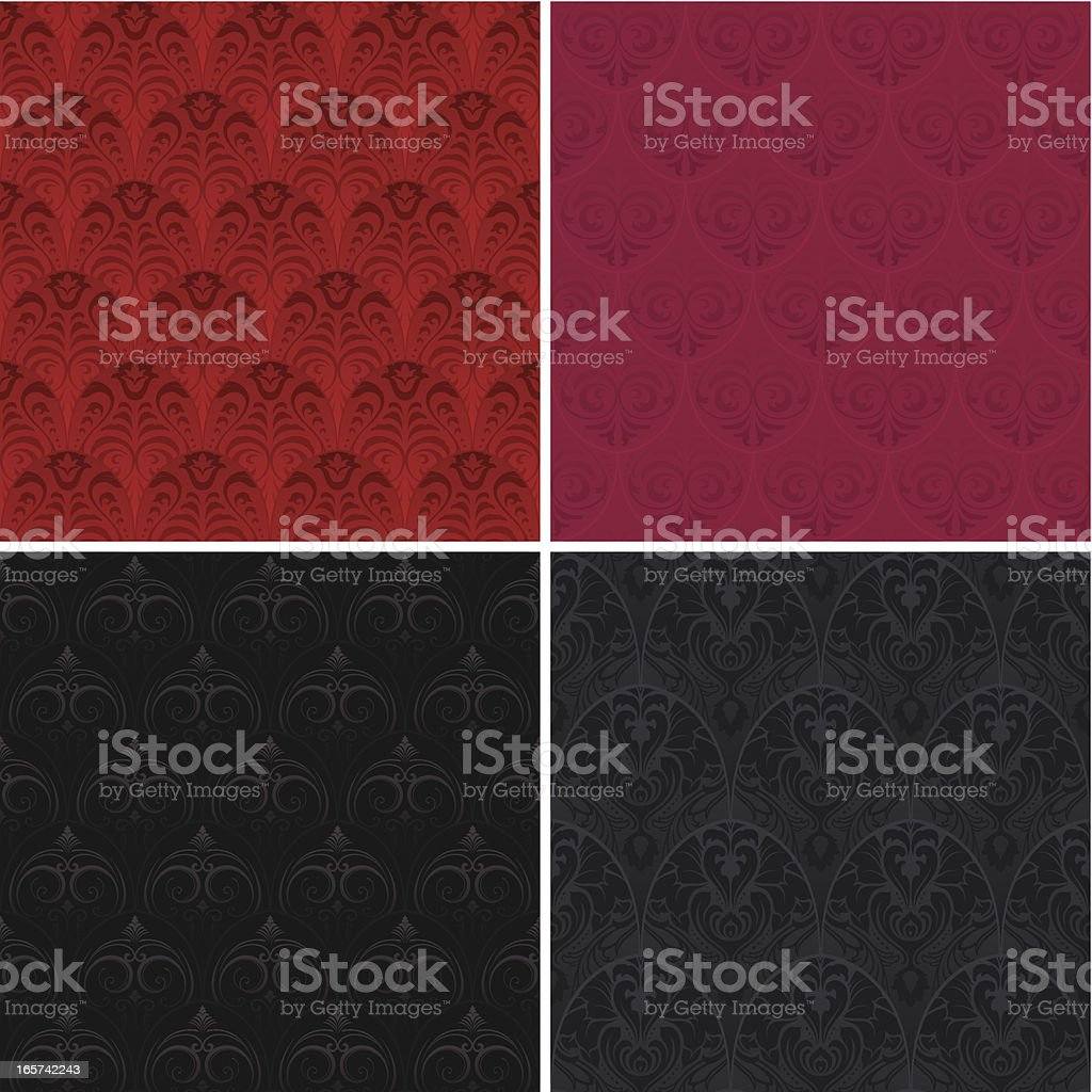 Seamless tiled wallpaper backgrounds royalty-free stock vector art