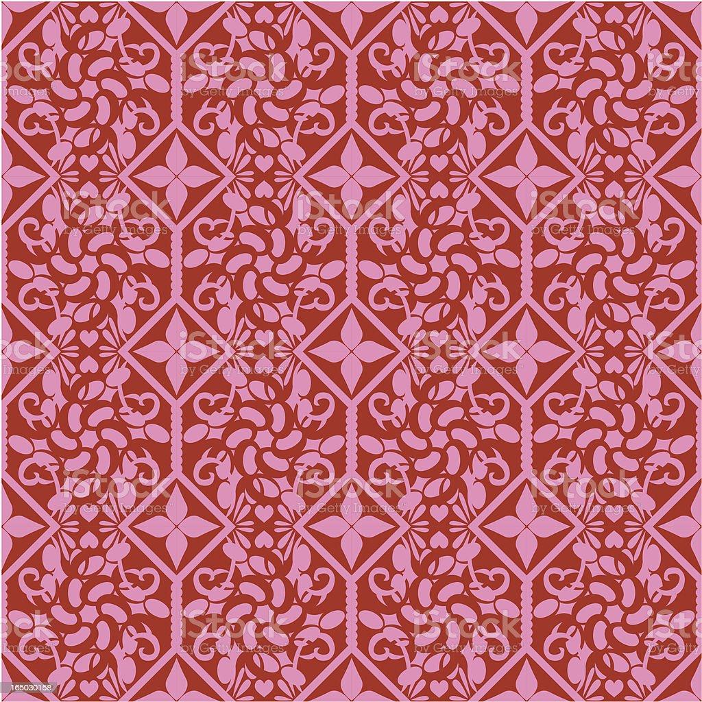 Seamless Tiled Wallpaper ( Vector ) vector art illustration