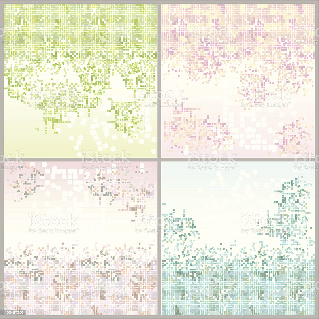 Seamless Tiles - Set of Four Backgrounds royalty-free stock vector art