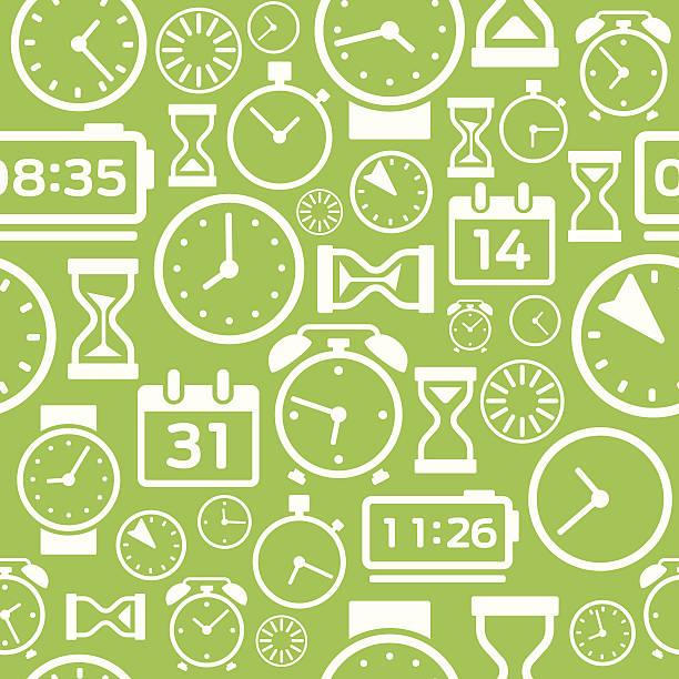 ilustraciones, imágenes clip art, dibujos animados e iconos de stock de tiempo de fondo sin costuras - calendario abstracto