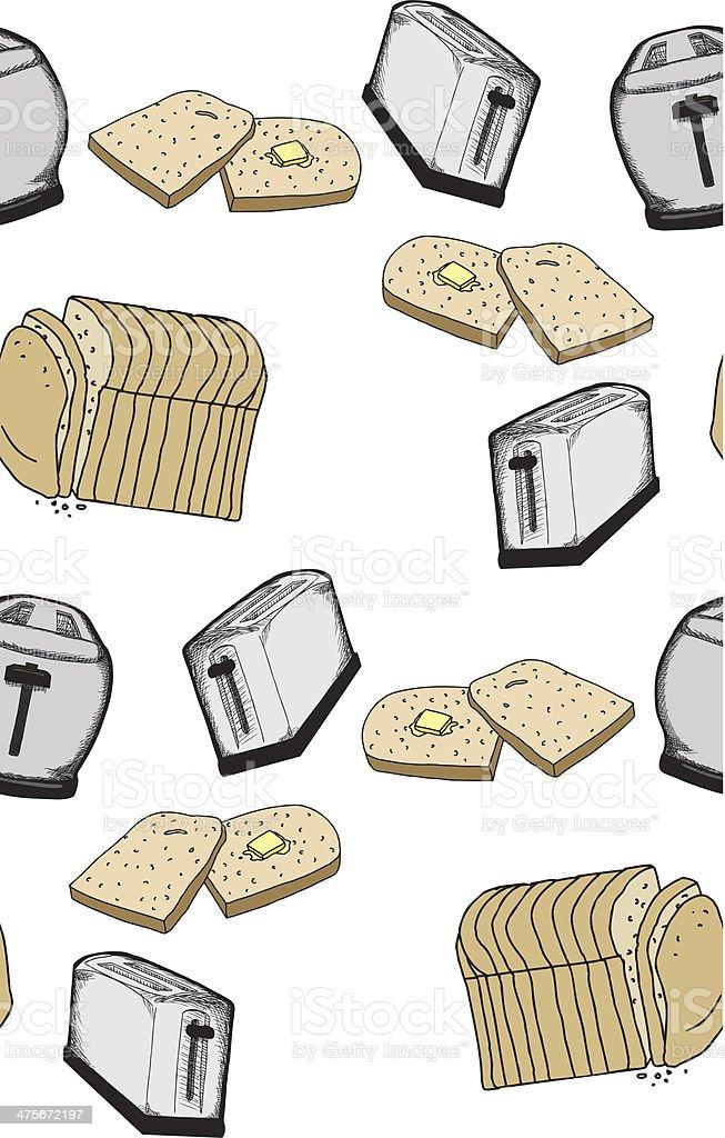 Seamless Toast Pattern royalty-free stock vector art
