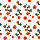 Seamless tomato pattern illustration. Perfectly usable for all surface pattern projects.