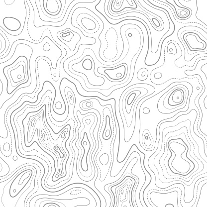 Seamless Topographic Contour Lines