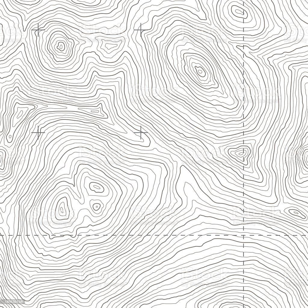 Seamless Topographic Map vector art illustration