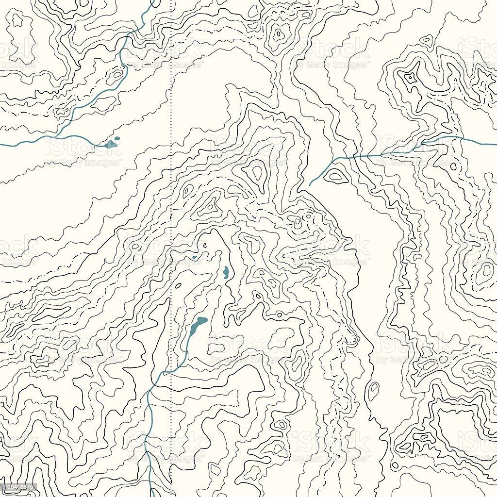 Seamless Topography vector art illustration