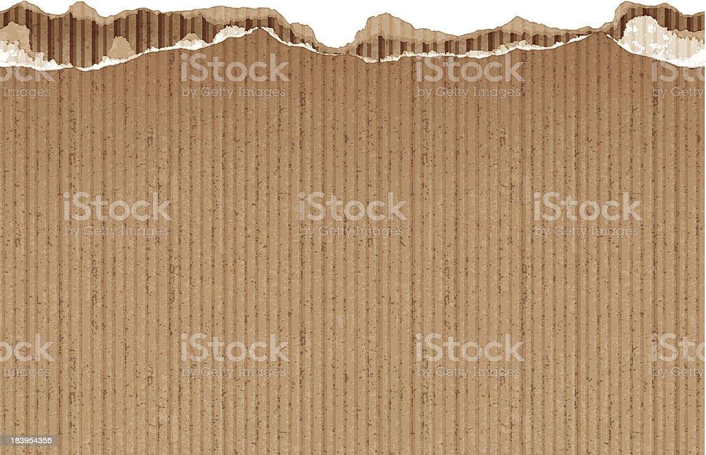 seamless torn cardboard banner vector art illustration