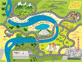istock Seamless toy map 165641537