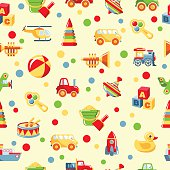 Seamless toys pattern