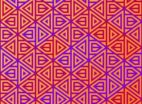 Seamless Traditional Geometric Pattern