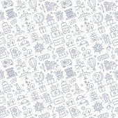 Seamless pattern background vector illustration for tourism, transportation and travel compositions.