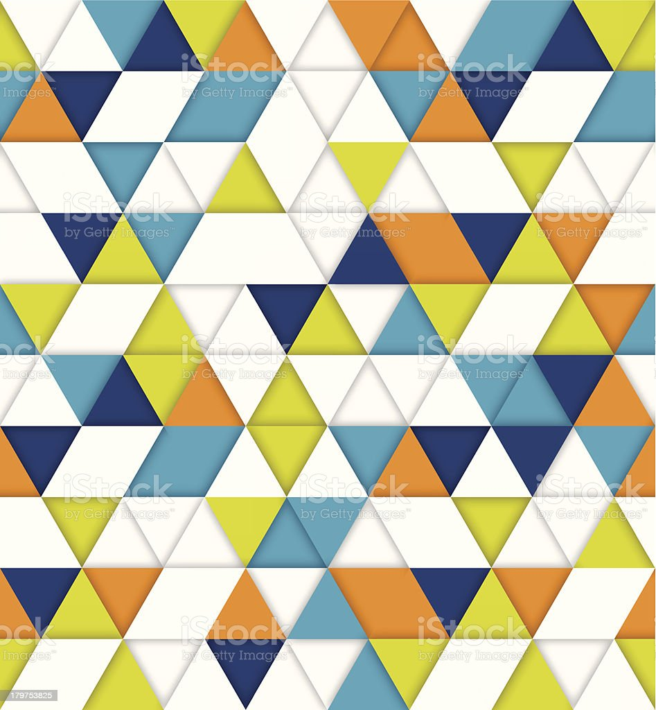 Seamless Triangle Background royalty-free stock vector art