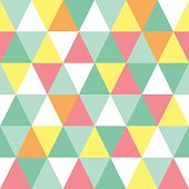 Seamless triangle colorful pattern. Abstract illustration in polygonal style.