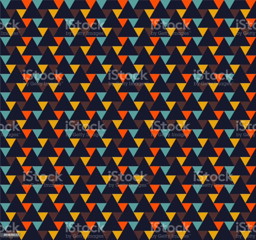 Seamless Triangle Pattern Vector royalty-free seamless triangle pattern vector stock vector art & more images of abstract