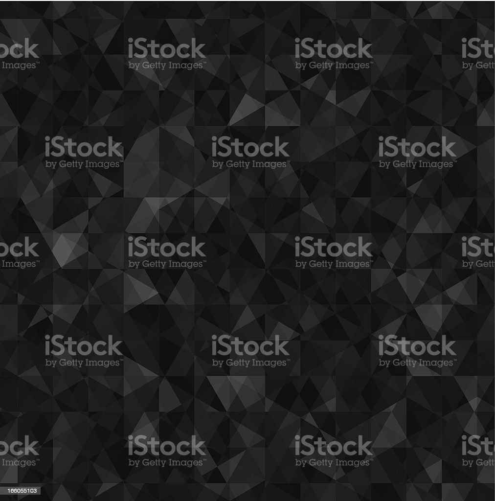 Seamless triangles pattern in various black tones royalty-free stock vector art