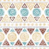 Seamless tribal pattern. Grunge texture.