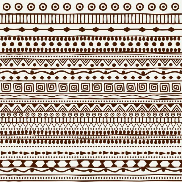Seamless tribal pattern in the style of a boho. Background African motifs. Seamless tribal pattern in the style of a boho. Background African motifs hawaiian culture stock illustrations
