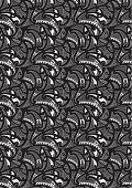 A tribal black and white pattern