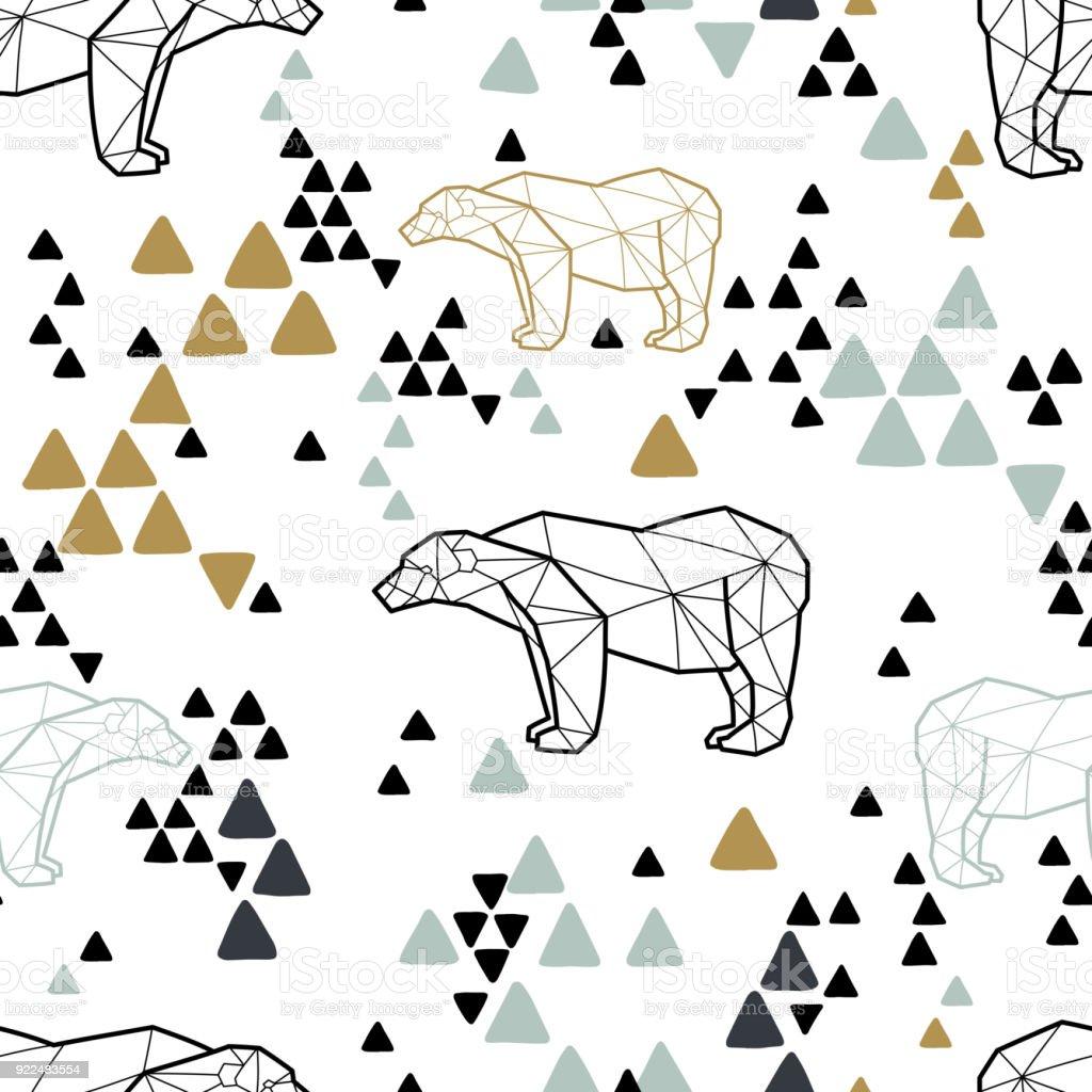 Ilustración de Patrones Tribales Sin Fisuras Con Los Osos Polares ...