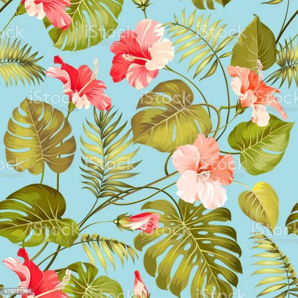 Seamless tropical flower vector id479381986?b=1&k=6&m=479381986&s=612x612&h=iyumsus9utfze3ocnyj5 hzoxmmkw7mlruhhqphauyo=