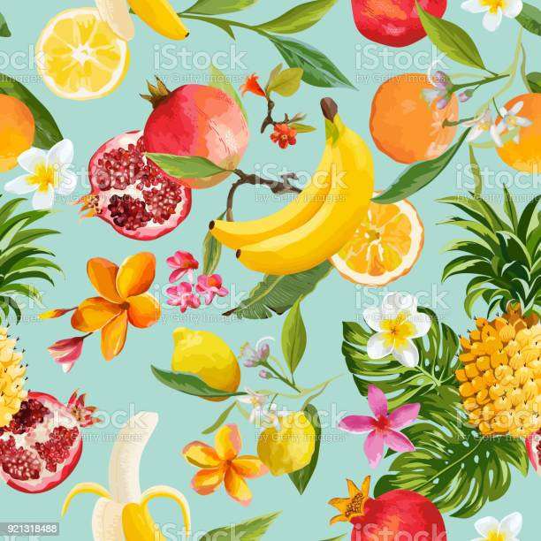 Seamless tropical fruits pattern exotic background with pomegranate vector id921318488?b=1&k=6&m=921318488&s=612x612&h=z9gx9vflk7tmfohgljadxyahpr4sbuwk7uigai4oedy=