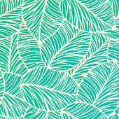 Seamless Tropical Leaf Background