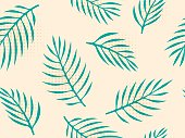 Seamless tropical leaves background.