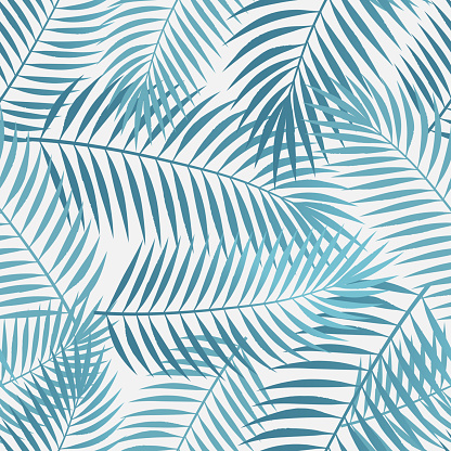 Seamless Tropical Palm Leaves