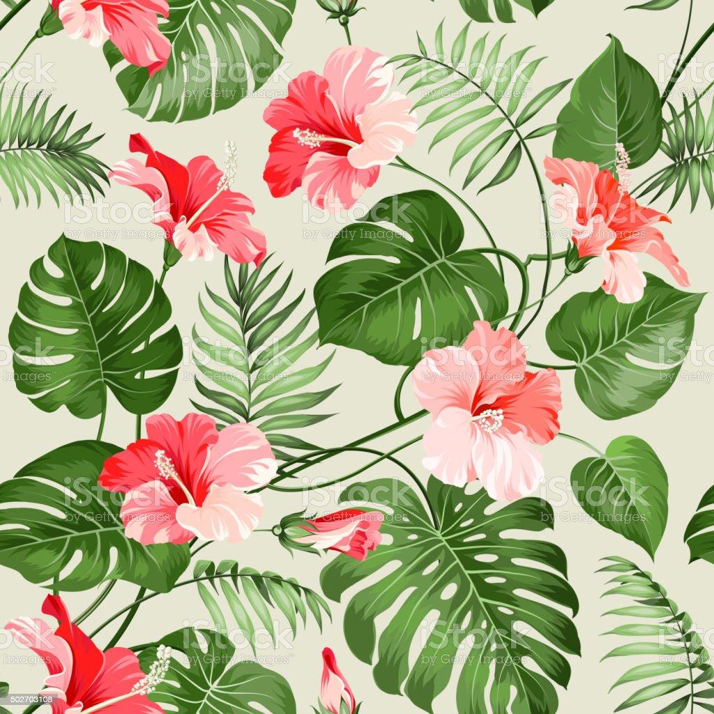 Patrón sin costuras tropical - ilustración de arte vectorial