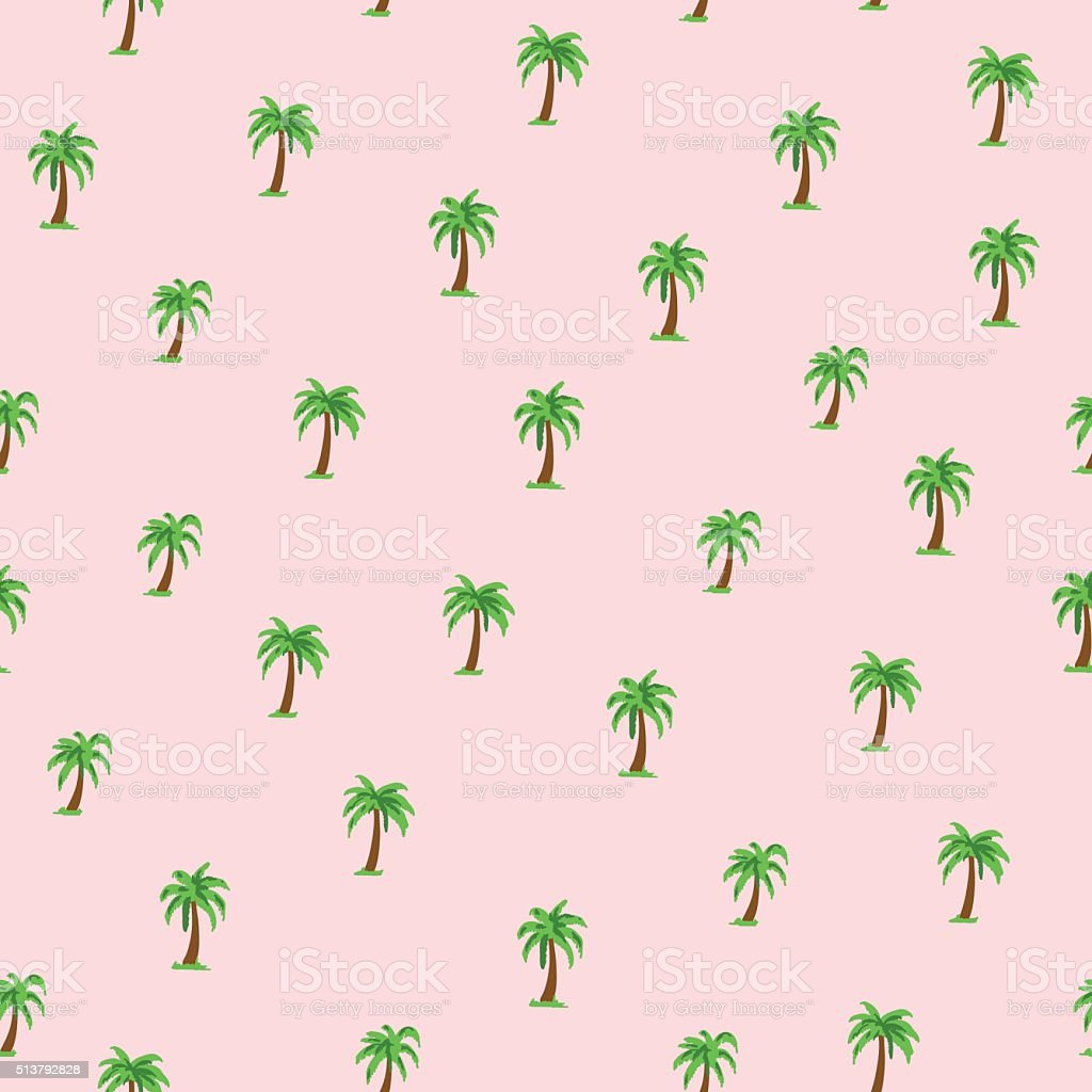 Seamless tropical pattern with palm trees. vector art illustration