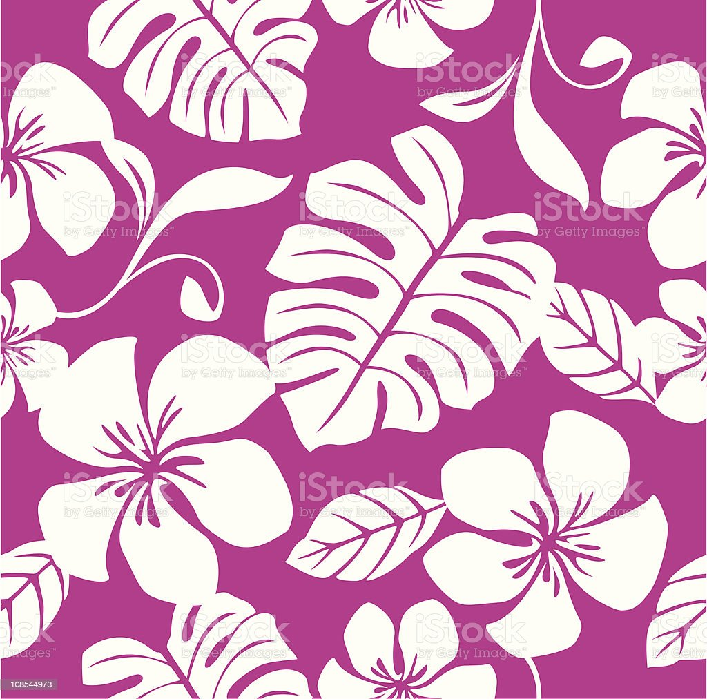 Seamless Tropical Pink Bikini Pattern royalty-free stock vector art