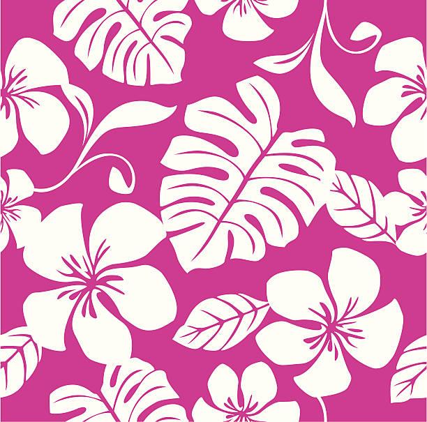 Seamless Tropical Pink Bikini Pattern vector art illustration