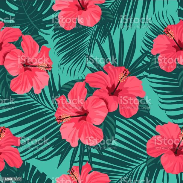 Seamless tropical vector pattern with bright hibiscus flowers and vector id1139013227?b=1&k=6&m=1139013227&s=612x612&h=zw wdfan2ec6stlnlyaxjd6wrjzfmorxmwcnu3khohi=