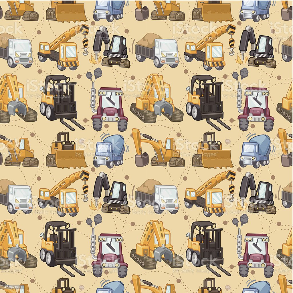 seamless truck pattern royalty-free stock vector art