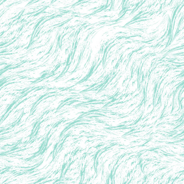 Seamless turquoise vector pattern of splashes and brush strokes. Blue texture on a white background. Print for clothes fabric or wrapper. Seamless turquoise vector pattern of splashes and brush strokes. Blue texture on a white background. Print for clothes fabric or wrapper tide stock illustrations
