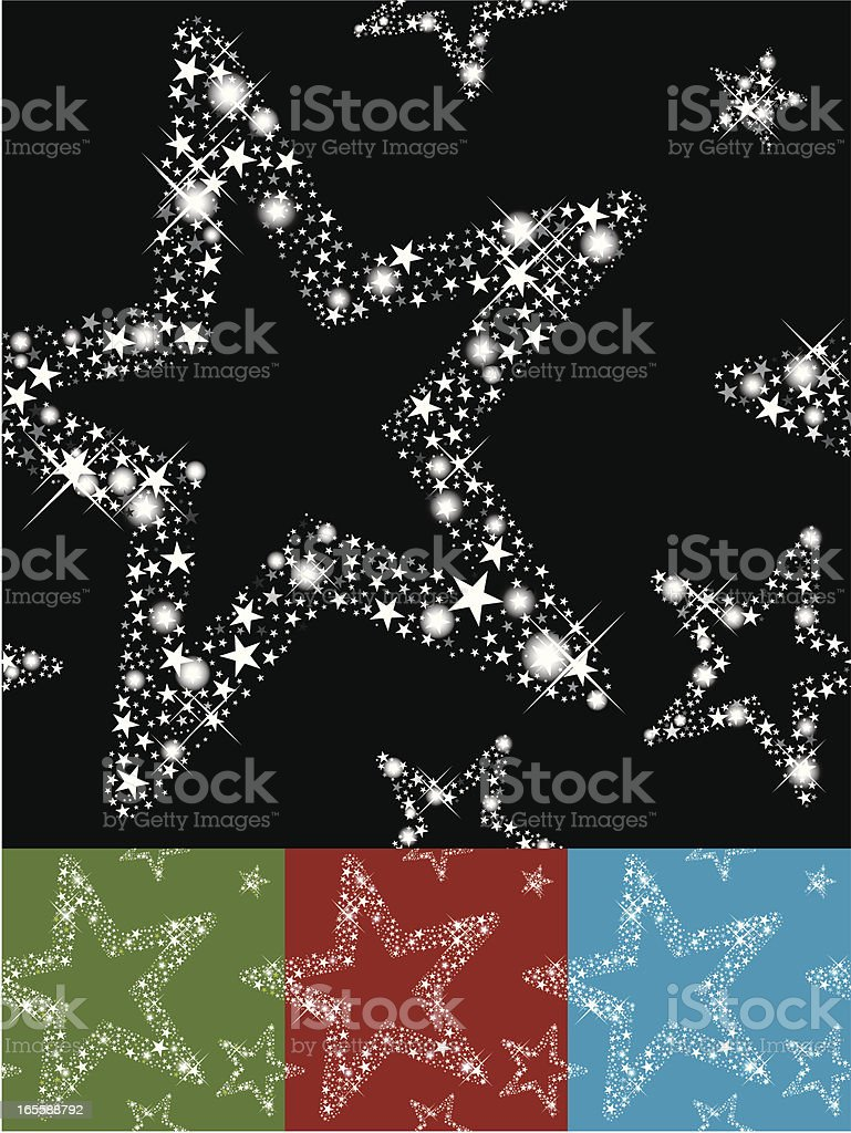 Seamless Twinkle Star vector art illustration