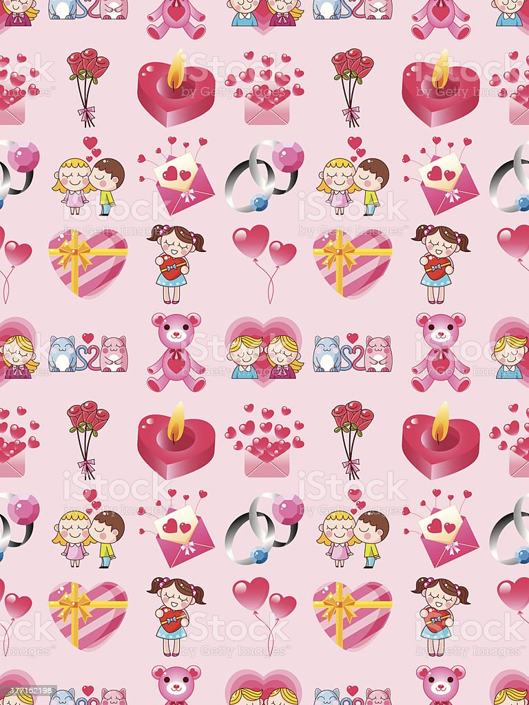 seamless Valentine's Day pattern royalty-free stock vector art