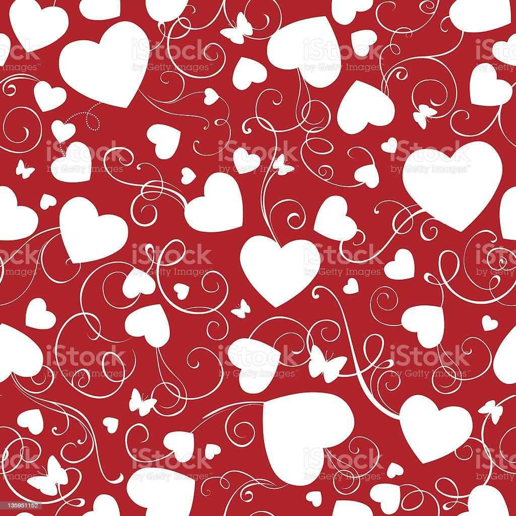 Nahtlose Valentinstag Wallpaper Stock Vektor Art Und Mehr Bilder Von