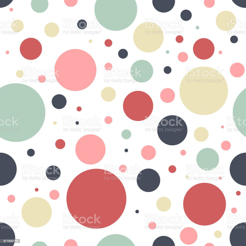 seamless vector abstract geometric dots pattern design