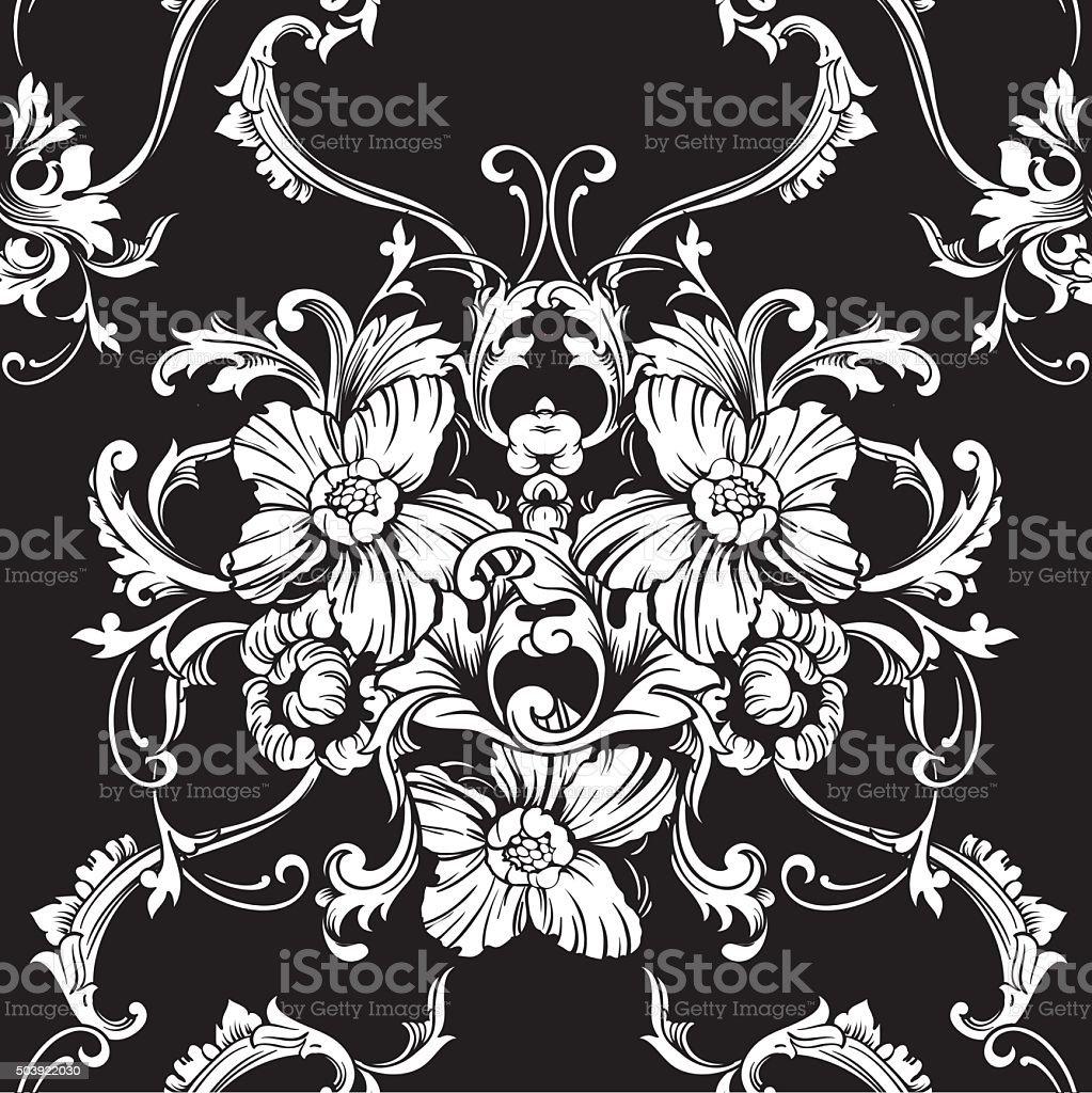 Bettwasche Barock Muster ~ Nahtloser vektor hintergrund barock muster stock